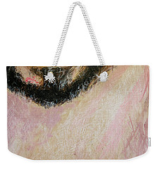 Weekender Tote Bag featuring the painting Cristo Face Art by Ron Richard Baviello
