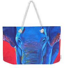 Critically Endangered Sumatran Elephant  Weekender Tote Bag