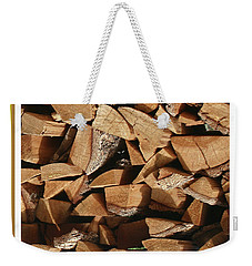 Weekender Tote Bag featuring the photograph Cutie Critter In The Wood Pile by Jack Pumphrey