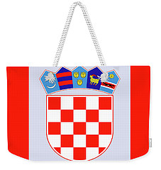 Weekender Tote Bag featuring the drawing Croatia Coat Of Arms by Movie Poster Prints