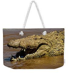 Crocodile Grins On The Mara River Weekender Tote Bag