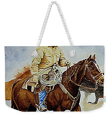 Cropped Ranch Rider Weekender Tote Bag by Jimmy Smith