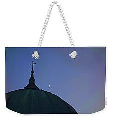 Cross And Moon Weekender Tote Bag by Joan Reese