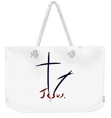 Cross And Shadow Weekender Tote Bag