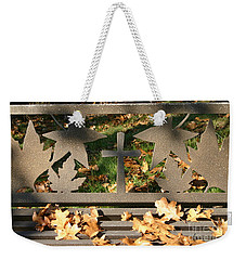 Weekender Tote Bag featuring the photograph Cross In The Middle by Marie Neder