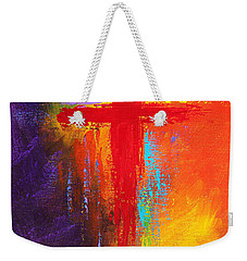Weekender Tote Bag featuring the painting Cross by Kume Bryant