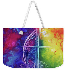 Weekender Tote Bag featuring the painting Cross Of  Promise by Karen Kennedy Chatham
