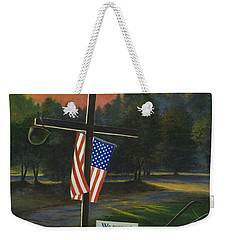 Cross Of Remembrance Weekender Tote Bag