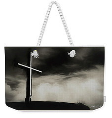 Cross On A Hill Weekender Tote Bag