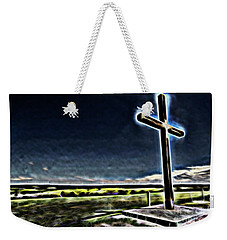 Weekender Tote Bag featuring the photograph Cross On The Hill by Douglas Barnard