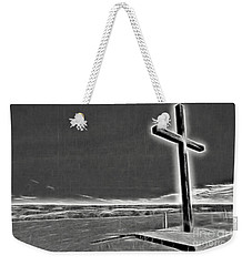 Weekender Tote Bag featuring the photograph Cross On The Hill V2 by Douglas Barnard