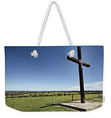 Weekender Tote Bag featuring the photograph Cross On The Hill V3 by Douglas Barnard