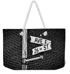 Weekender Tote Bag featuring the photograph Cross Roads by Darren White