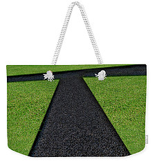 Weekender Tote Bag featuring the photograph Cross Roads by Paul Wear