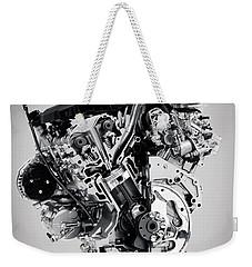 Cross Section Of Buick Lacrosse 3.6l V6 Vvt Car Engine Weekender Tote Bag