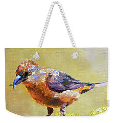 Crossbill Weekender Tote Bag by Jan Hardenburger