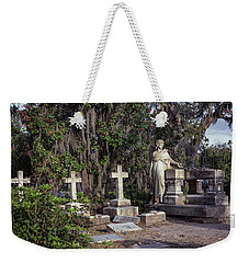 Weekender Tote Bag featuring the photograph Crosses Three by Kim Hojnacki