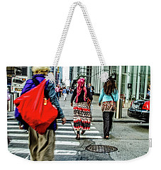 Weekender Tote Bag featuring the photograph Crossing by Karol Livote
