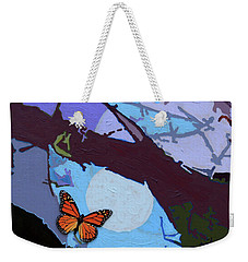 Crossing The Border Weekender Tote Bag by John Lautermilch