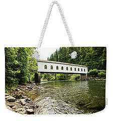 Crossing The Mckenzie River Weekender Tote Bag