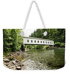 Crossing The Mckenzie River Weekender Tote Bag