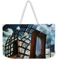 Weekender Tote Bag featuring the painting Crossroads  by Mariusz Zawadzki