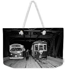 Crosstown Trolley Weekender Tote Bag by Cole Thompson