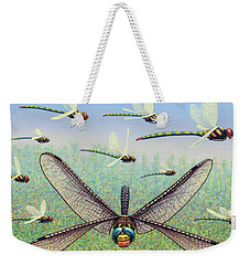Weekender Tote Bag featuring the painting Crossways by James W Johnson