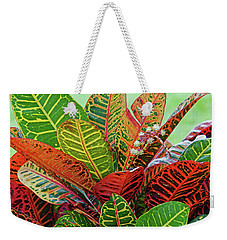 Colorful Croton Bloom Weekender Tote Bag