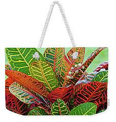Colorful Croton Bloom Weekender Tote Bag