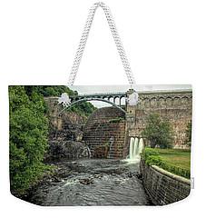 Croton Dam In Summer Weekender Tote Bag