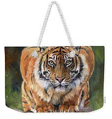 Crouching Tiger Weekender Tote Bag by David Stribbling