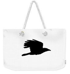 Crow In Flight Silhouette Weekender Tote Bag