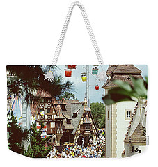 Weekender Tote Bag featuring the photograph Crowded by John Schneider