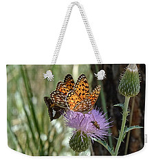 Crowded Thistle Weekender Tote Bag