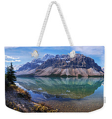 Weekender Tote Bag featuring the photograph Crowfoot Reflection by Chad Dutson