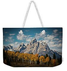 Crown For Tetons Weekender Tote Bag by Edgars Erglis