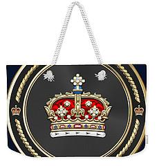 Crown Of Scotland Over Blue Velvet Weekender Tote Bag