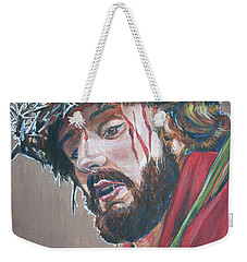 Weekender Tote Bag featuring the painting Crown Of Thorns by Bryan Bustard