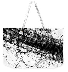 Weekender Tote Bag featuring the drawing Crown Of Thorns by Steven Macanka