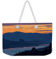 Crown Point And Beacon Rock At Dawn Weekender Tote Bag