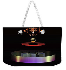 Weekender Tote Bag featuring the digital art Crowned Jewels by Melissa Messick