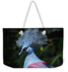 Crowned Pigeon Weekender Tote Bag by Mitch Shindelbower