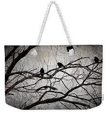 Crows At Midnight Weekender Tote Bag by Angie Rea