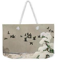Crows In Winter Weekender Tote Bag by Newell Convers Wyeth