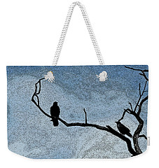 Crows On A Branch Weekender Tote Bag by Sandra Church