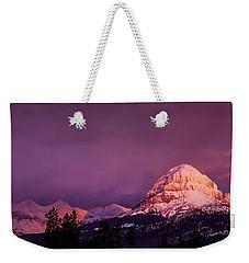 Crowsnest Sunrise Weekender Tote Bag by Brad Allen Fine Art