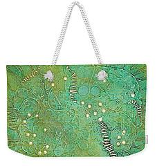 Weekender Tote Bag featuring the mixed media Cruciferous Flower by Bernard Goodman
