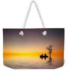 Weekender Tote Bag featuring the pyrography Cruise by Bess Hamiti