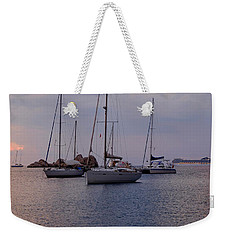 Cruise Liner Passing Weekender Tote Bag